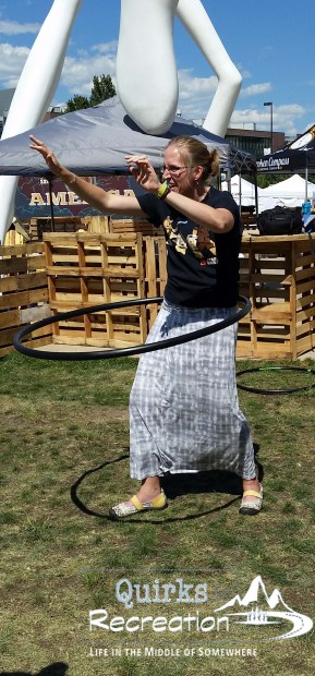 woman hula hoop dancing