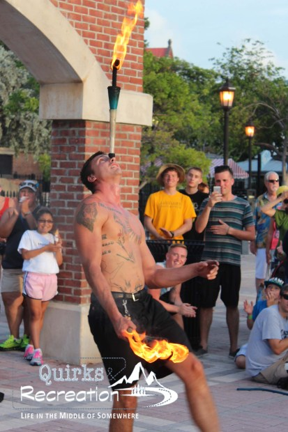 street performer juggling fire Mallory Square Key West
