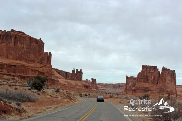 drive through Arches National Park