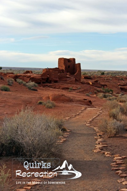 trail leading to a Wupatki pueblo ruin