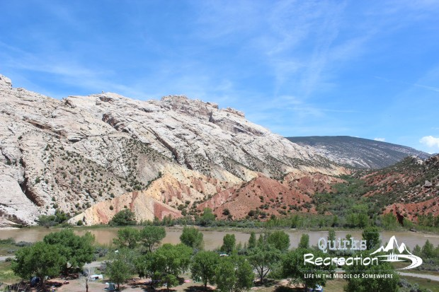 view at Split Mountain Campground at Dinosaur National Monument