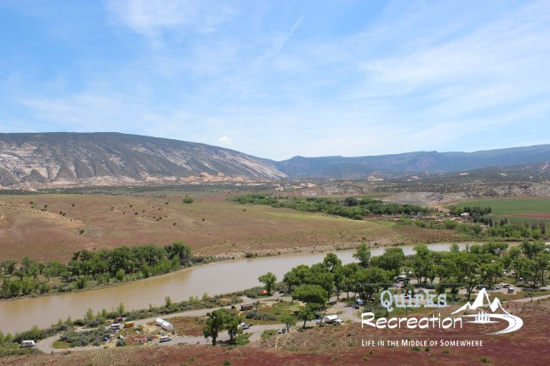 river view in Dinosaur National Monument