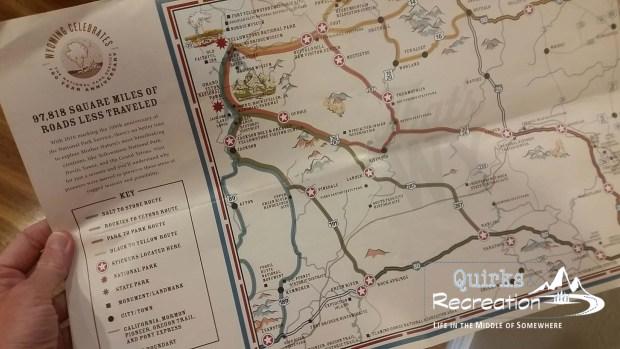 Wyoming tourism sticker distribution map