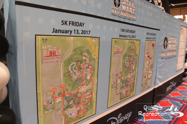 course maps for run Disney Star Wars