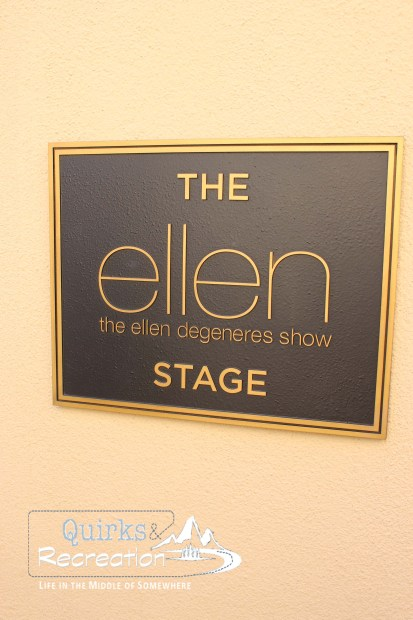 Ellen show plaque at Warner Bros.