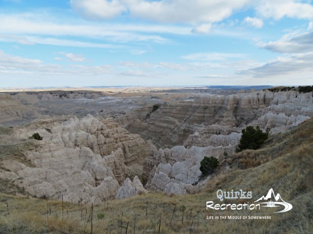 view of rock formations in Stronghold Unit Badlands National Park