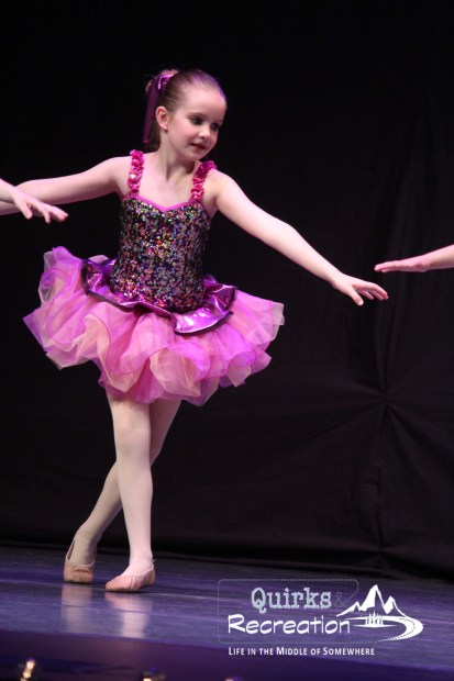 ballerina dancing in a recital