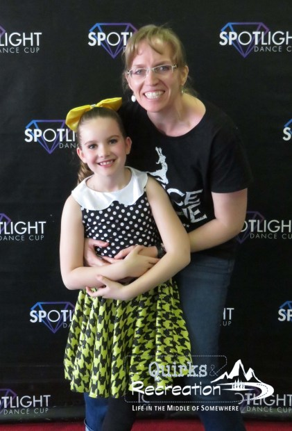 mom and daughter posing at Spotlight Dance Cup