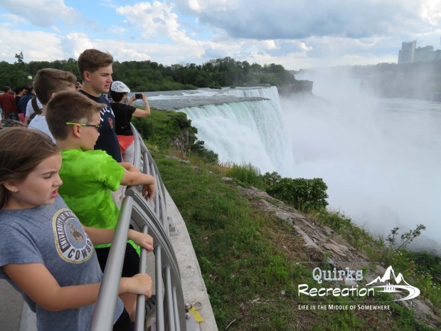 Niagara Falls overlook with children