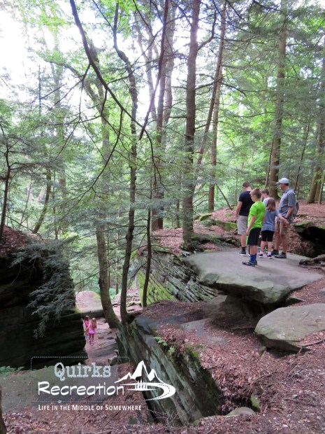 hikers on the ledges Trail in Cuyahoga Valley