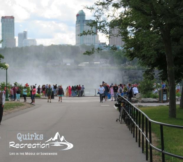 mist at Niagara Falls