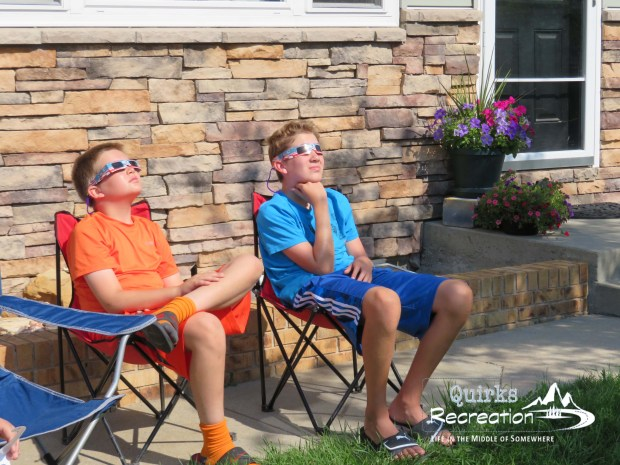 Brothers viewing the 2017 total solar eclipse