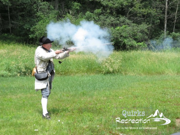Musket reenactment at Minute Man National Historic Park