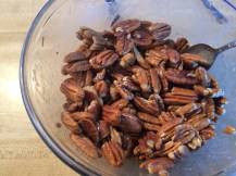 Syrupy pecans about to be candied @ quirkyandwonderful.wordpress.com