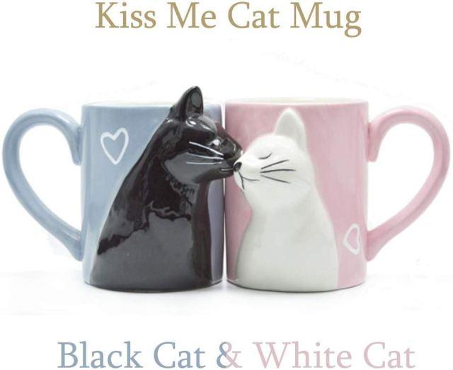 kiss me cat mug