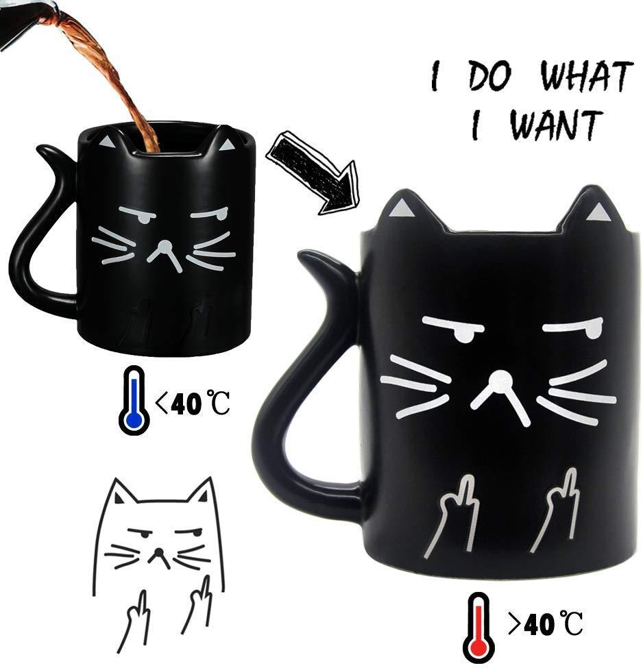 finger me cat coffee mug