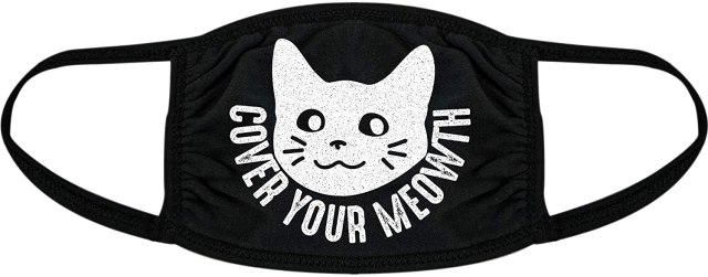 cover your mouth cat mask