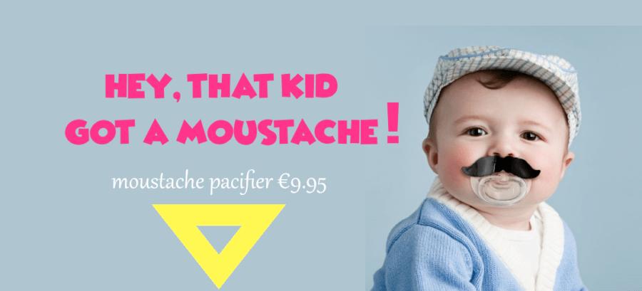 moustache pacifier banner png