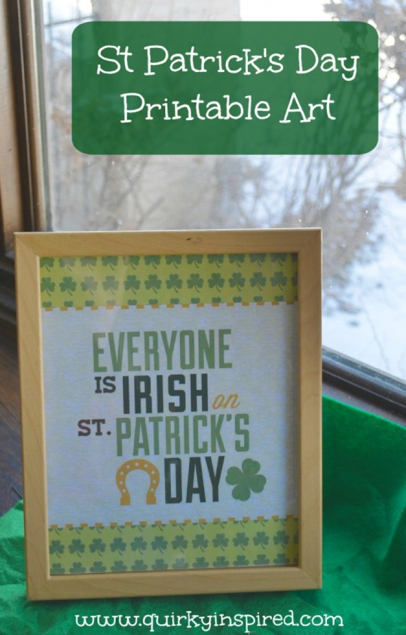 Check out this cute free St Patricks Day printable to decorate your home
