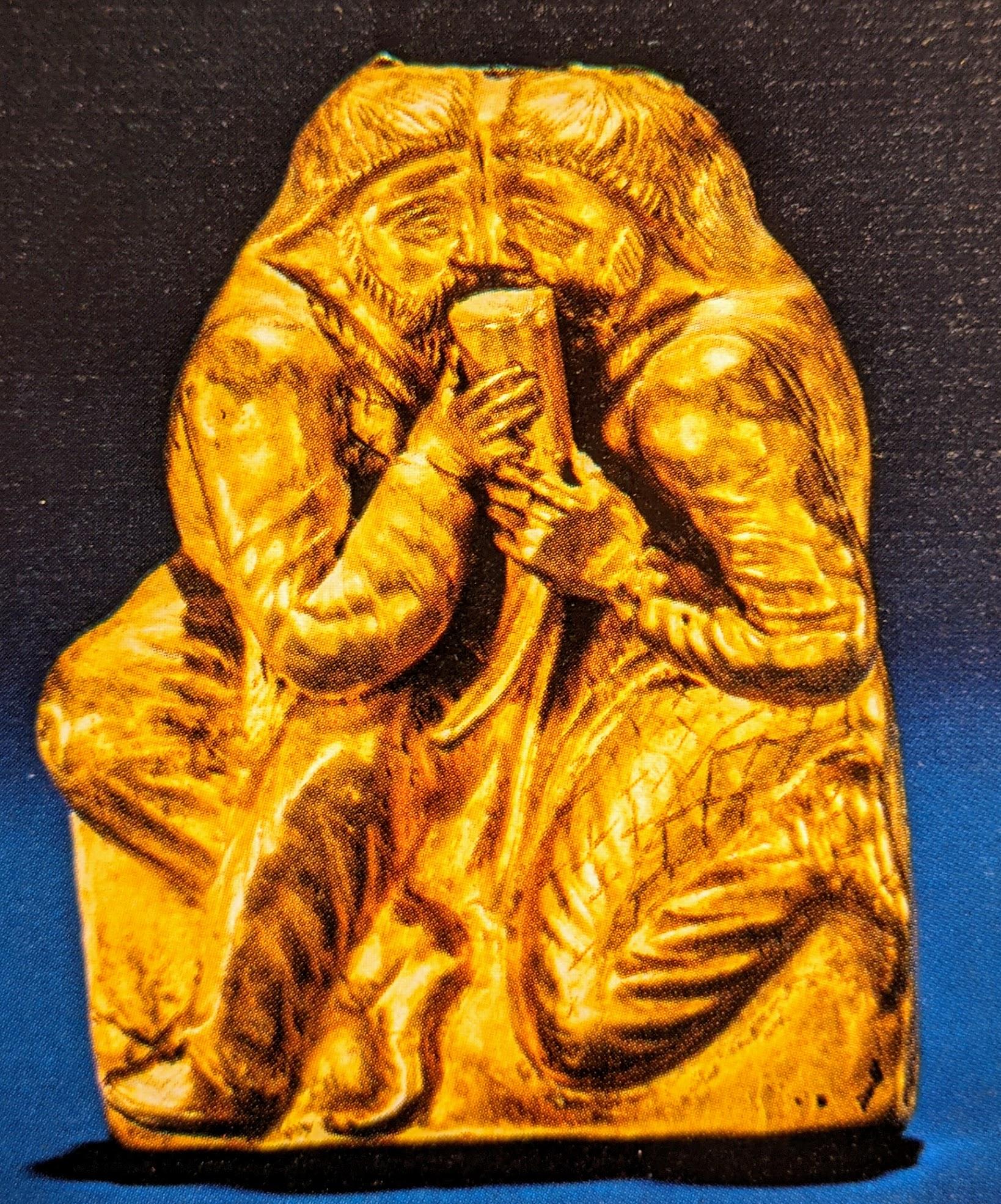 Drinking buddies gold applique plaque