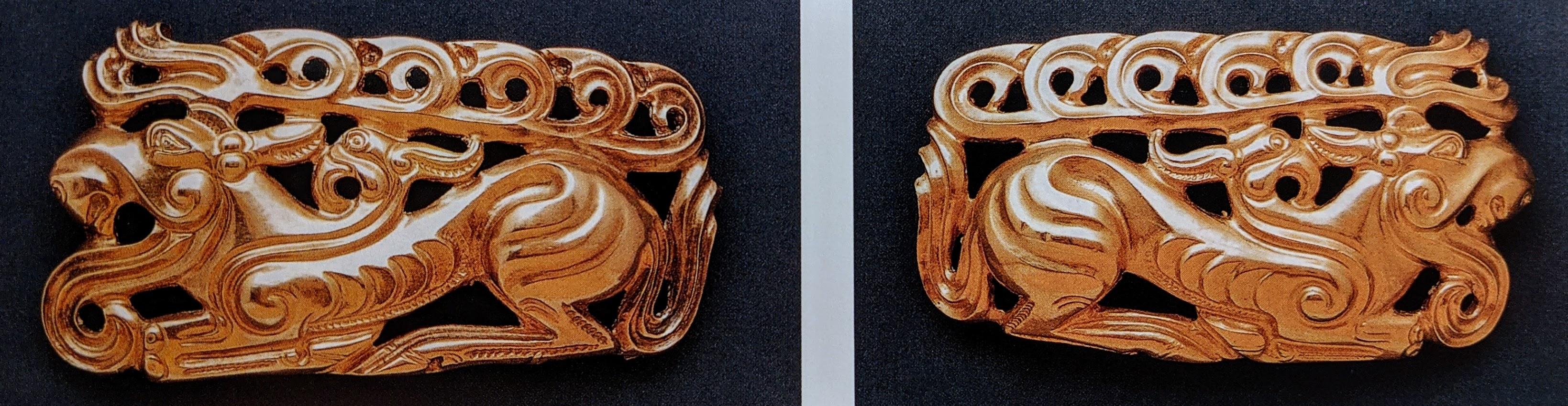 Stag chimera belt plaques