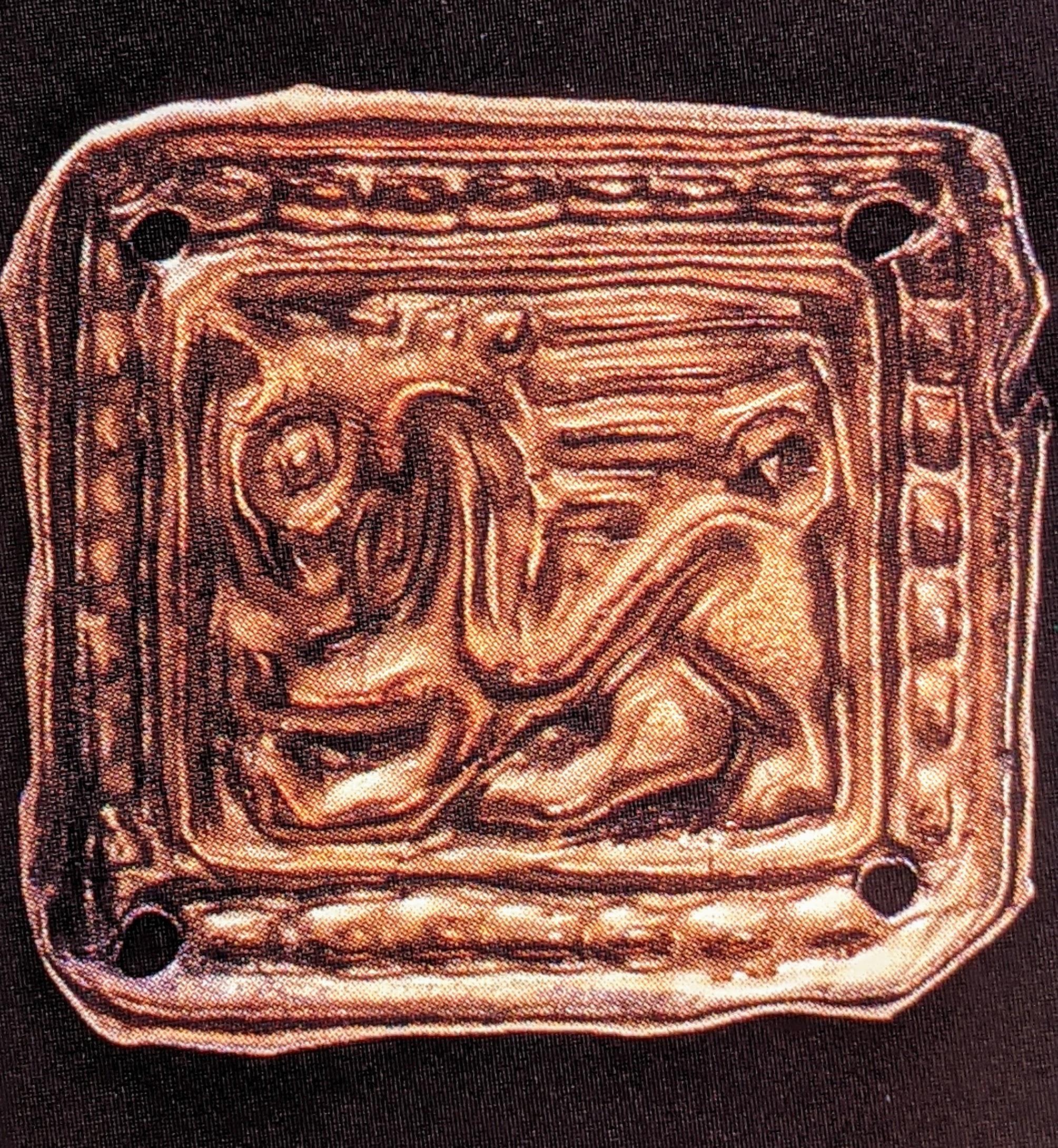 Griffin gold applique plaque
