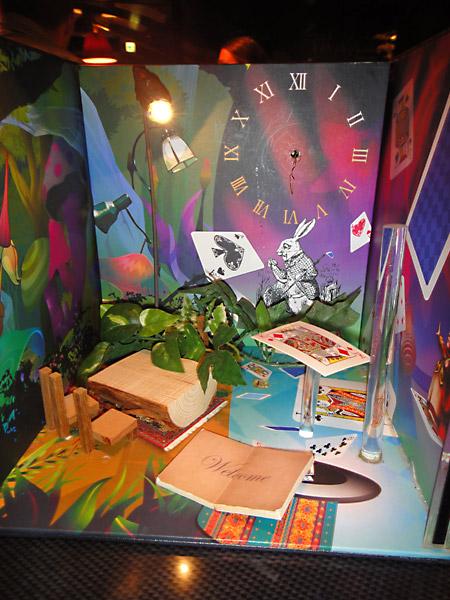 Menu at Alice in Wonderland restaurant