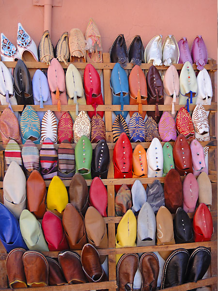 A girl's guide to Marrakech - babouche shoes