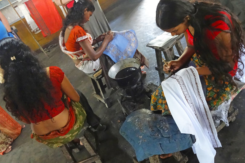 Batik workshop, Sri Lanka