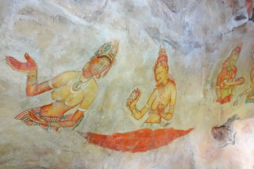 Frescoes at Sigiriya Sri Lanka