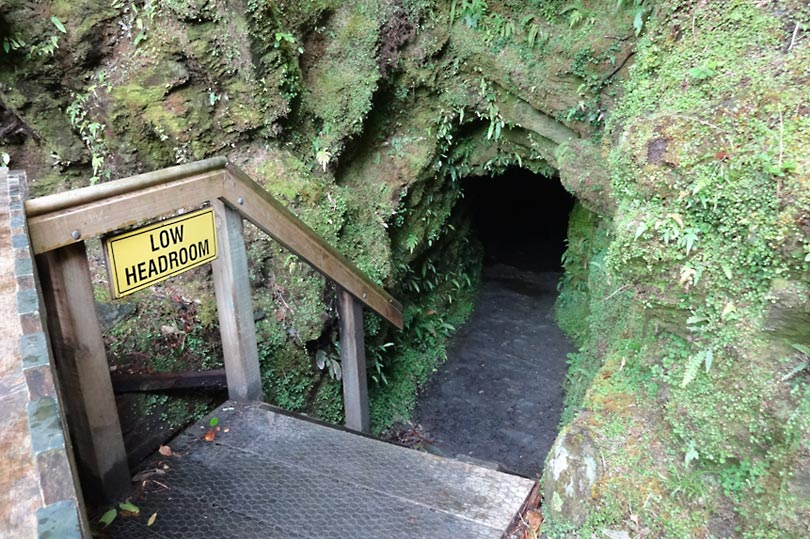 Tatare Tunnels cave entrance in Franz Josef, NZ