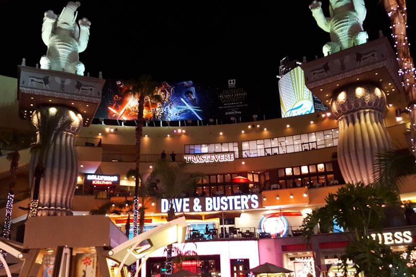 Shopping and dining at Hollywood & Highland