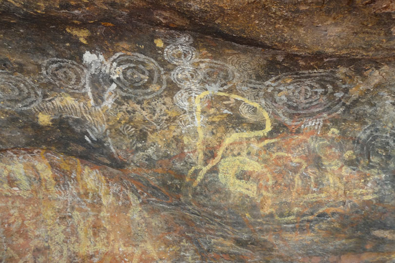 Aboriginal art at Uluru
