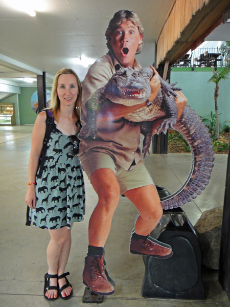 At Australia Zoo in my safari animal print dress
