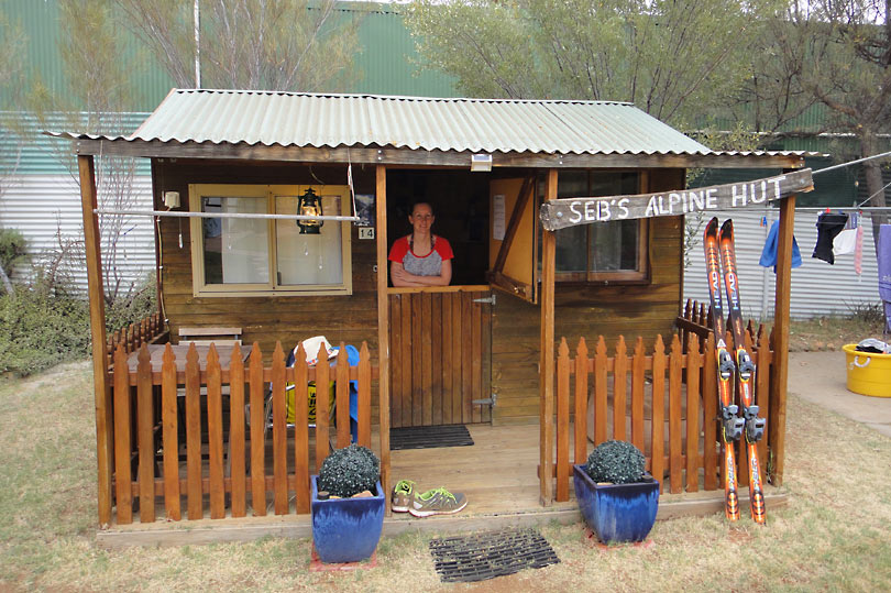 Alpine Hut room at quirky Alice Springs hostel