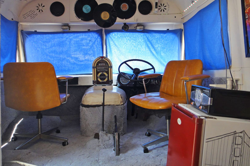 You can stay in this renovated American bus in Alice Springs, Australia