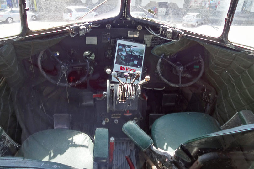 The cockpit of the plane at The World's Coolest McDonalds.