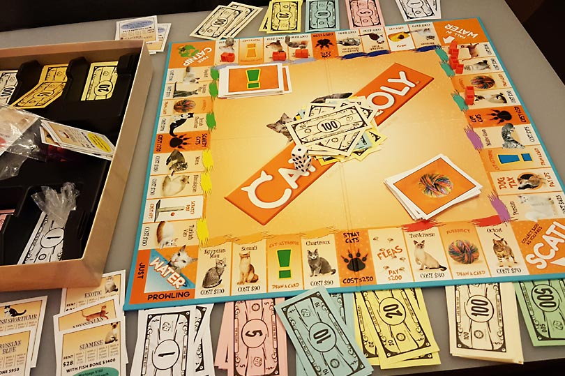 Catopoly - a monopoly style board game for Crazy Cat Ladies