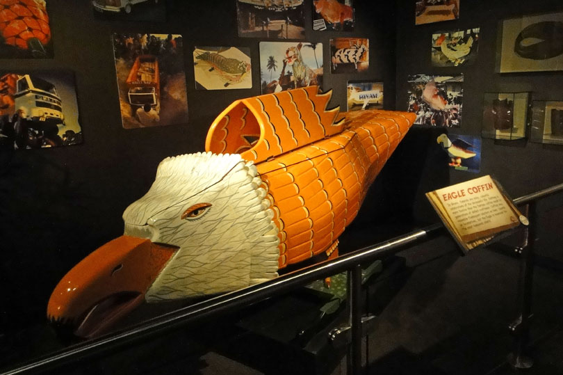 Eagle coffin from Ghana - on display at Ripley's in London.