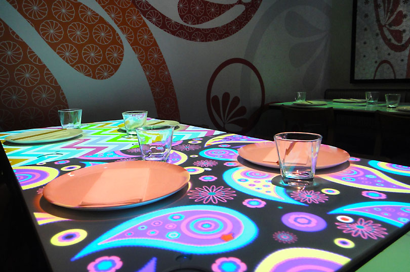 Funky Patterns As Digital Tablecloths   The Future Of Restaurants At Inamo  Soho