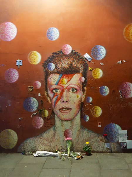 Tribute to David Bowie. Brixton, London.