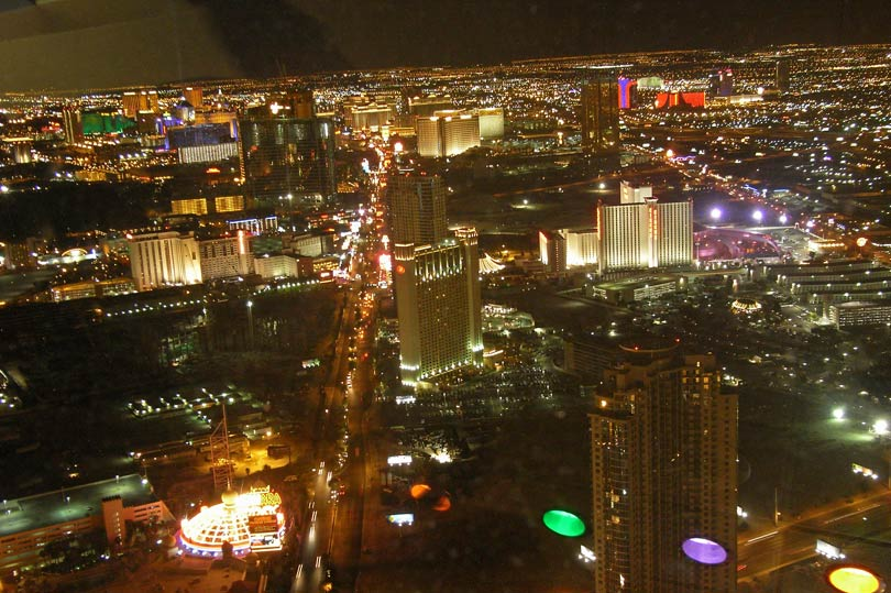 The photos don't do it justice! View from the Stratosphere in Vegas