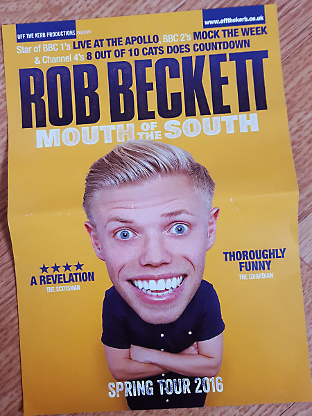 Rob Beckett Tour Flyer