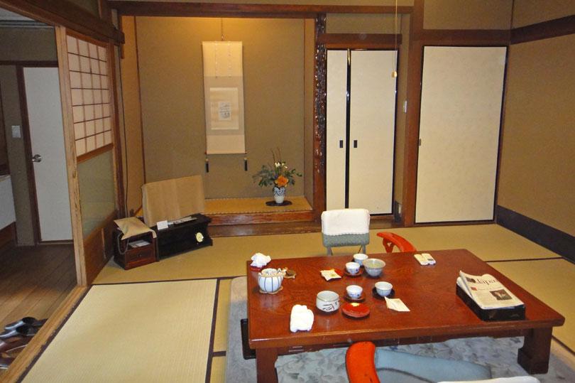 Inside a Japanese ryokan