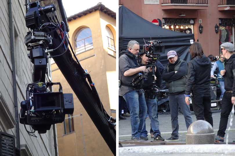 Making a movie in Rome