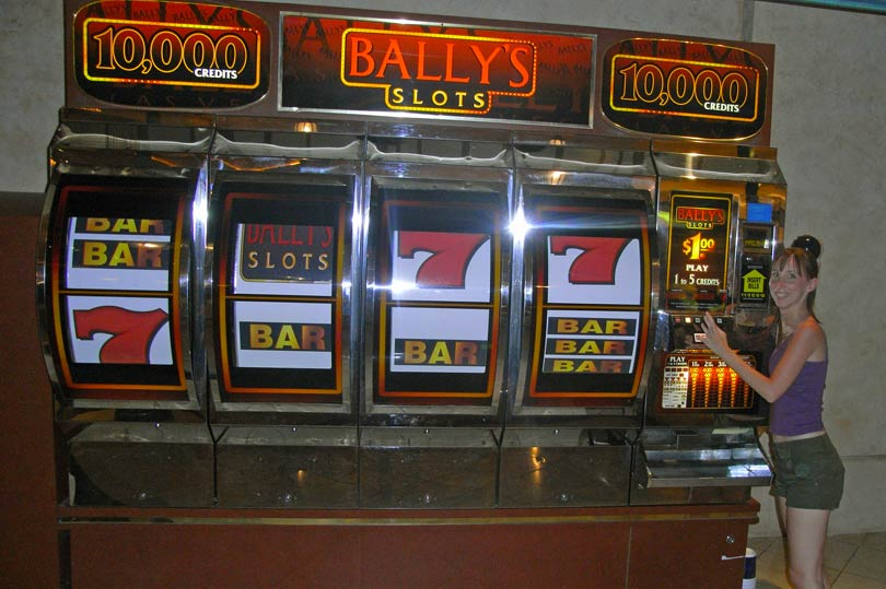 The giant slot machine at Ballys Las Vegas