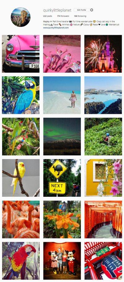 QuirkyLittlePlanet - Rainbow instagram page