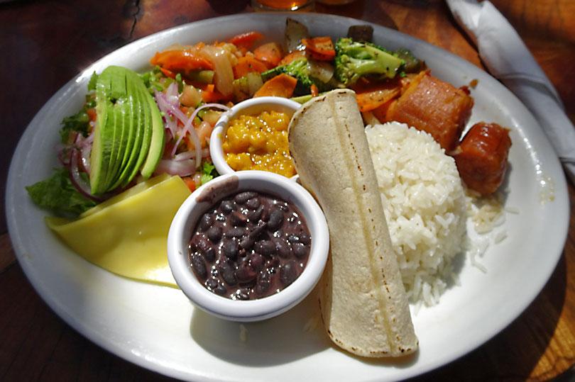 Casado - a typical Costa Rican dish