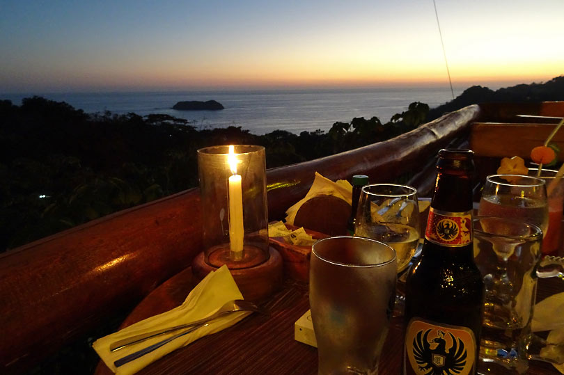 Sunset view from El Avion in Manuel Antonio