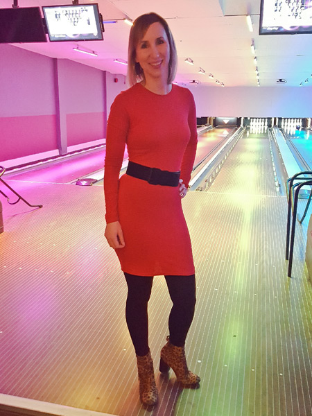 Femme Luxe Finery Red Long Sleeve Bodycon Dress